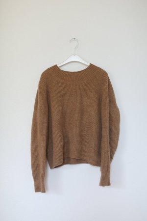 H&M Trend Knit Pullover Vintage Look Nude Camel Gr. M Strickpullover
