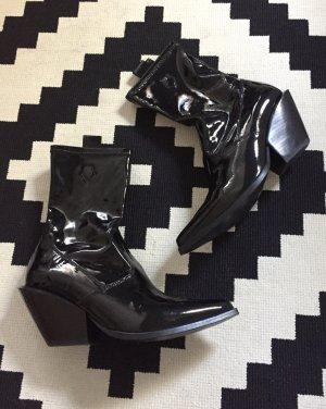 H&M Trend Lackleder Cowboy Boots 37