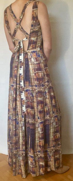 H&M Trend langes Kleid Gr. 40 mit Bindebändern im Rücken, Neu mit Etikett!