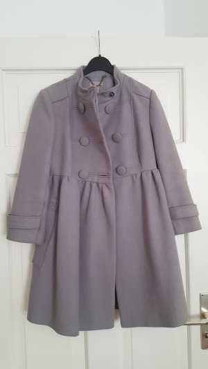 H&M Abrigo corto gris-gris claro Lana