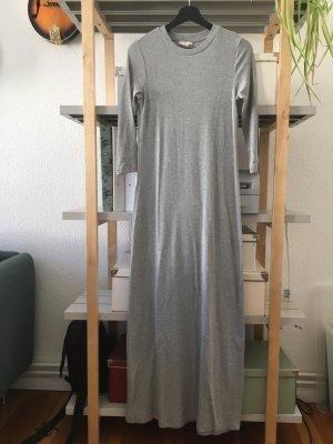 H&M Trend Midi Kleid in grau in 36
