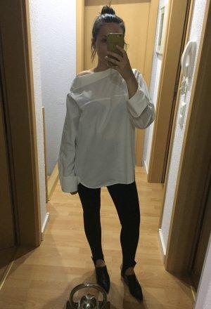 H&M Trend Oversize Bluse mit asymmetrischen Ausschnitt