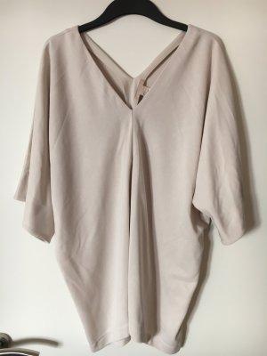 H&M Trend Oversize Shirt Kleid Gr.34 Nude Off White