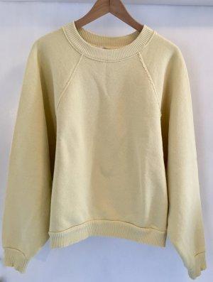 H&M Pull oversize jaune clair-jaune primevère coton