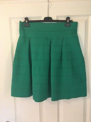 H&M Flared Skirt green polyester