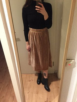 H&M Trend Samt Rock High Waist Skirt mit dehnbaren Gummibund