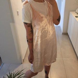 H&M Trend Samt Seide Kleidchen Tunika Kleid Rosé