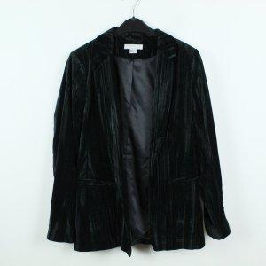 H&M Trend Samtblazer Blazer Gr. 42 dunkelgrün (19/09/397)