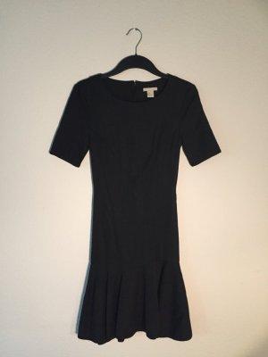 H&M Trend schwarzes Peplum Kleid 36