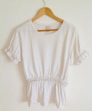H&M Trend Shirt Griechisch Goddess Weiß Boyfriend Oversized Oversize 38 40