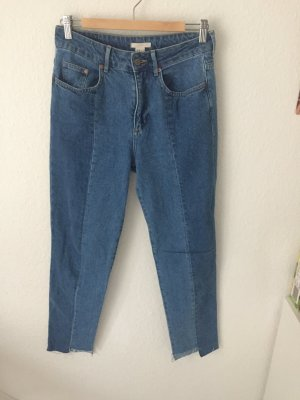H&M Trend Slim High Waisted Ankle Jeans Blau