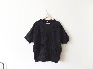 H&M Trend Sweatshirt Gr. M 40 oversize Pullover Fransen