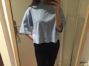 H&M Trend Sweatshirt Kurzarm Oversize Shirt hellblau gebraucht kaufen  Wird an jeden Ort in Deutschland