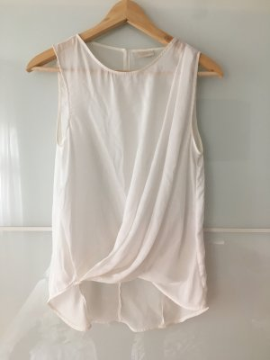 H&M Top in seta bianco Seta