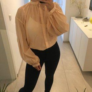 H&M Trend transparente leichte Bluse Tunika Shirt mit Puffärmeln