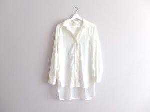 H&M Trend Vokuhila Bluse Gr. 38 M weiß creme sheer transparent