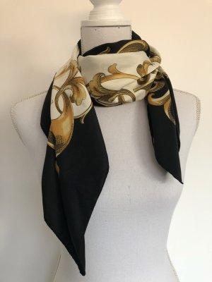 H&M Tuch schwarz weiß gold Muster elegant