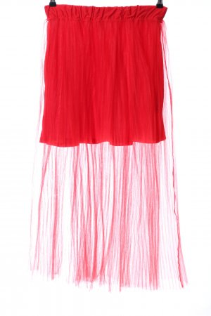 H&M Tulle Skirt red extravagant style