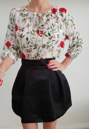 H&M Tütü Minirock XS S 34 36 schwarz high waist Tulpenrock Peplum Jumpsuit Büro Neu