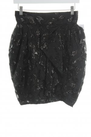 H&M Tulip Skirt black abstract pattern elegant