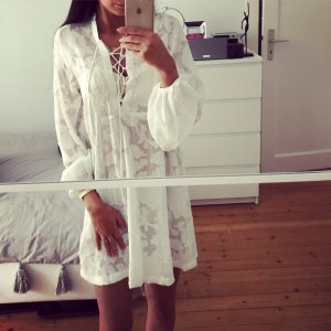 H&M Tunika Beach Sommer Lace Up Bluse