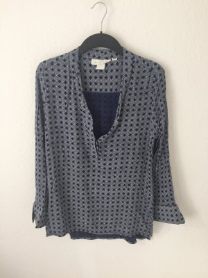 H&M Tunika Bluse Blau gemustert