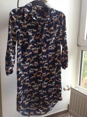 H&M Tunika, Kleid mit Pferdedruck