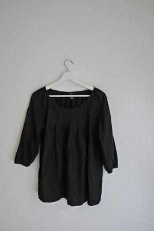 H&M Tunika Shirt Bluse Oberteil S M 38 schwarz Fashion Style Blogger Boho Indie