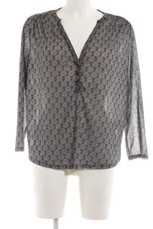 H&M Tuniekblouse zwart-lichtgrijs volledige print casual uitstraling