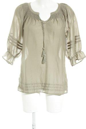 H&M Tunique-blouse gris vert style décontracté