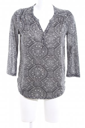 H&M Tunic Blouse light grey-white abstract pattern casual look
