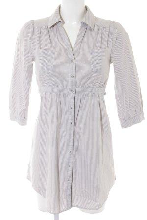 H&M Tunikabluse hellgrau-weiß Streifenmuster Casual-Look