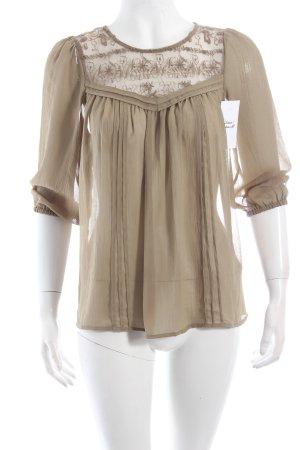 H&M Tunikabluse khaki Romantik-Look
