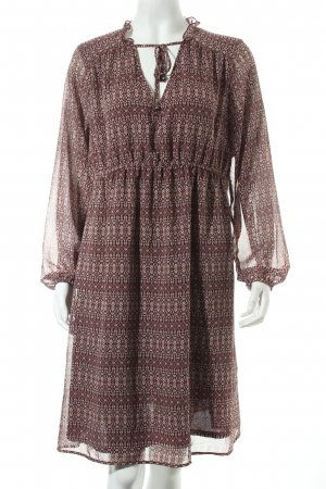 H&M Tunikakleid bordeauxrot Ethnomuster Hippie-Look