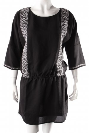 H&M Tunic Dress black-white