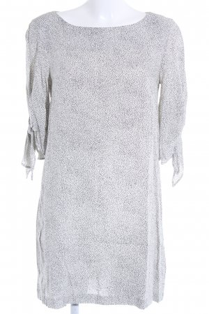 H&M Tunic Dress natural white-black spot pattern casual look