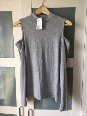 H&M Ribbed Shirt light grey