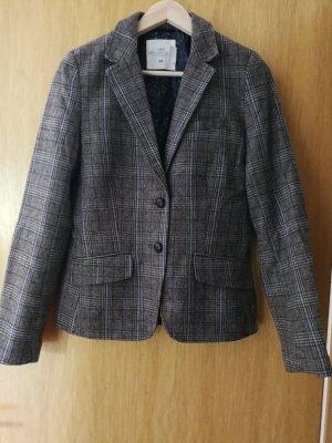H&M Tweed-Blazer mit Ellbogen-Patches