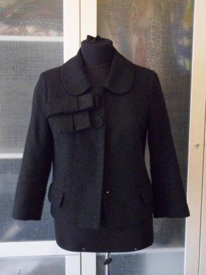 H&M Tweed Jäckchen mit Schleife Gr 36 top Zustand