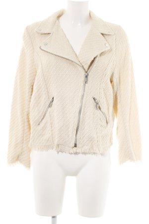 H&M Tweed Blazer cream allover print casual look