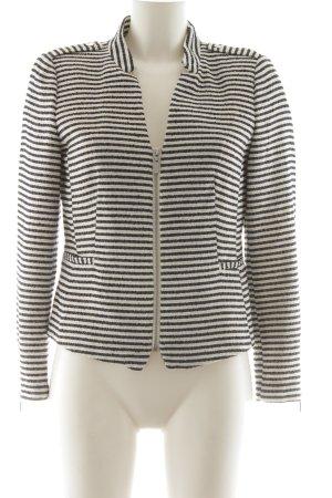 H&M Tweedblazer schwarz-weiß Streifenmuster Business-Look