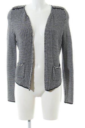 H&M Tweedblazer hellgrau-schwarz meliert Casual-Look