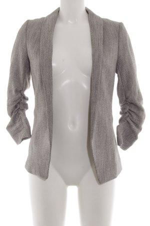 H&M Tweed Blazer light grey-brown flecked business style