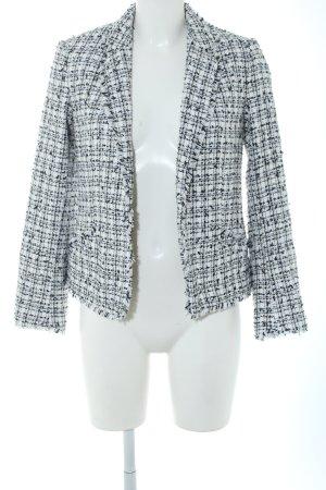 H&M Tweedblazer weiß-schwarz Business-Look