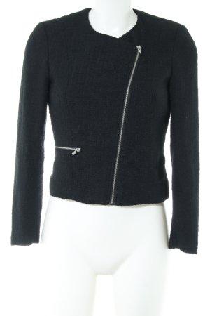 H&M Tweed Blazer black casual look