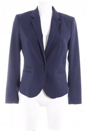 H&M Tweedblazer dunkelblau Business-Look