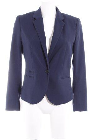 H&M Tweed blazer donkerblauw zakelijke stijl