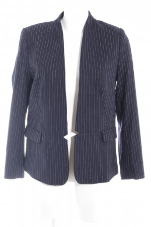 H&M Tweedblazer dunkelblau-weiß Nadelstreifen Business-Look