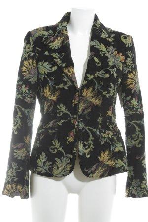 H&M Tweedblazer florales Muster extravaganter Stil