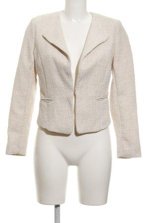 H&M Tweed blazer licht beige zakelijke stijl